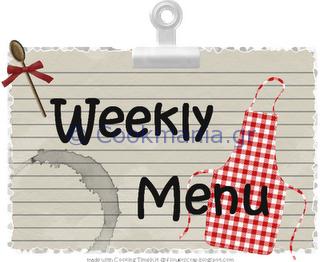 Εβδομαδιαίο menu